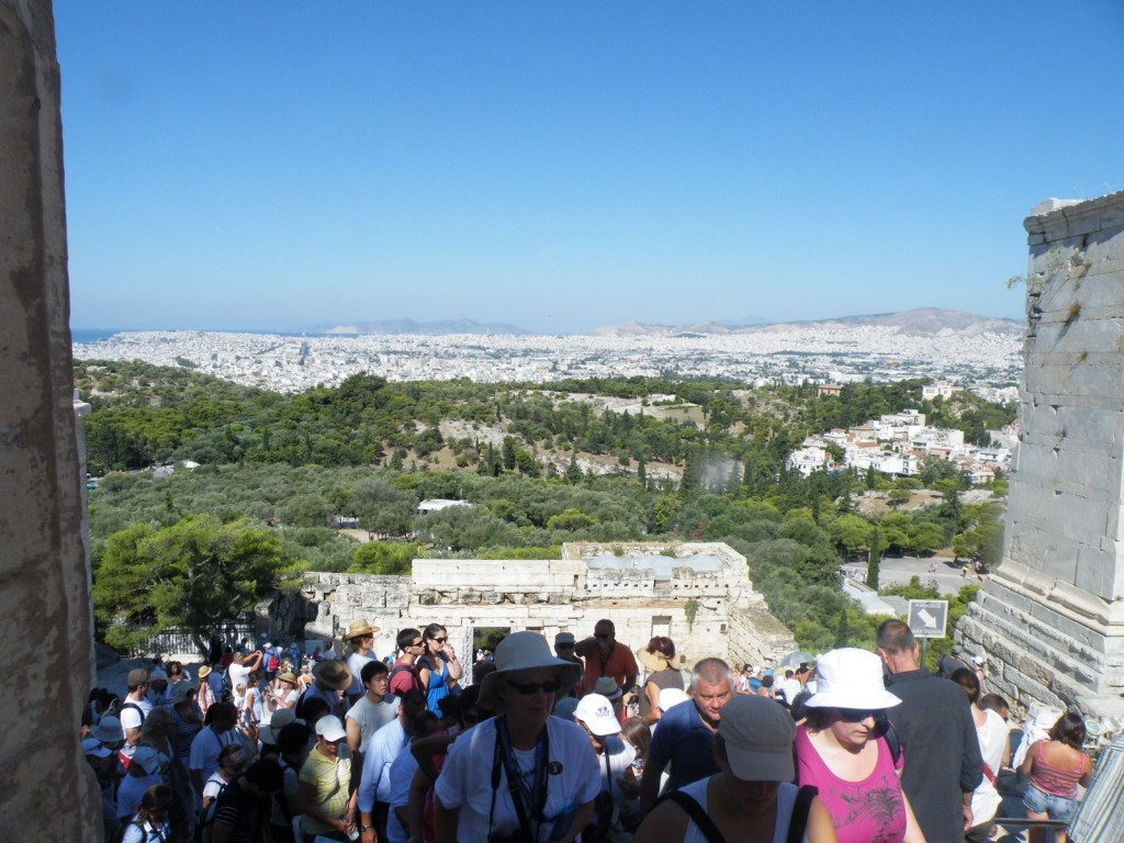 Vue sur Athènes de l'Acropole