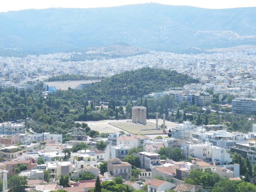 Vue sur le temple de Zeus