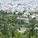 Vue sur le temple d'Héphaïstos