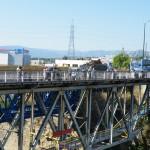 Delphine sur l'un des ponts du canal de Corinthe