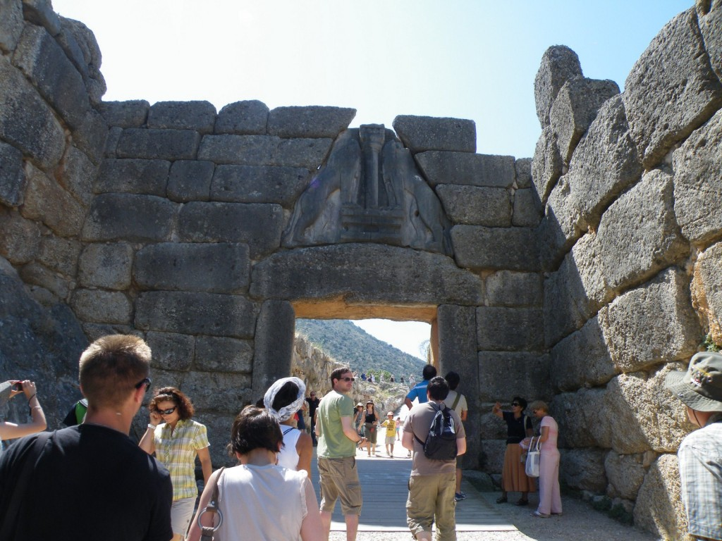 La porte des lionnes à Mycènes