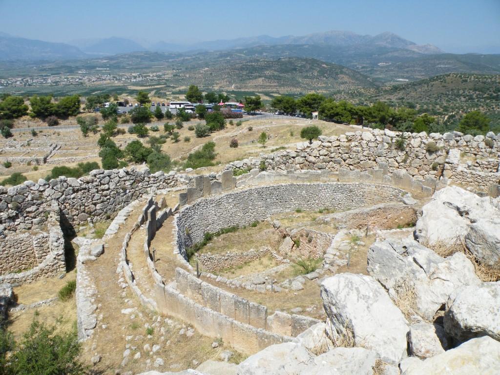 Des tombeaux à Mycènes