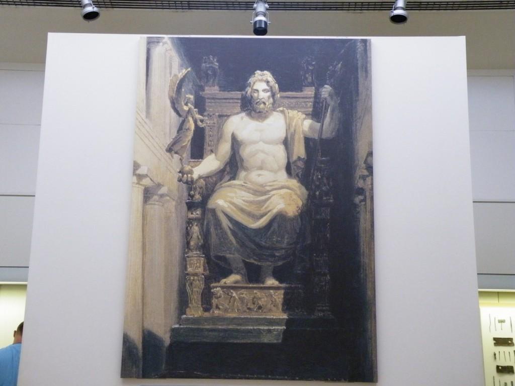 Représentation de la statue de Zeus