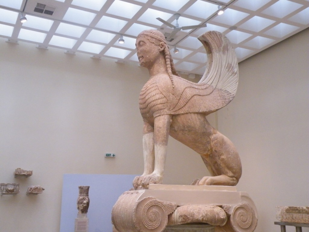 Le sphinx qui surplombait Delphes