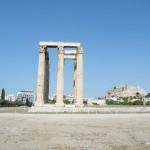 L'Olympéion, et l'acropole