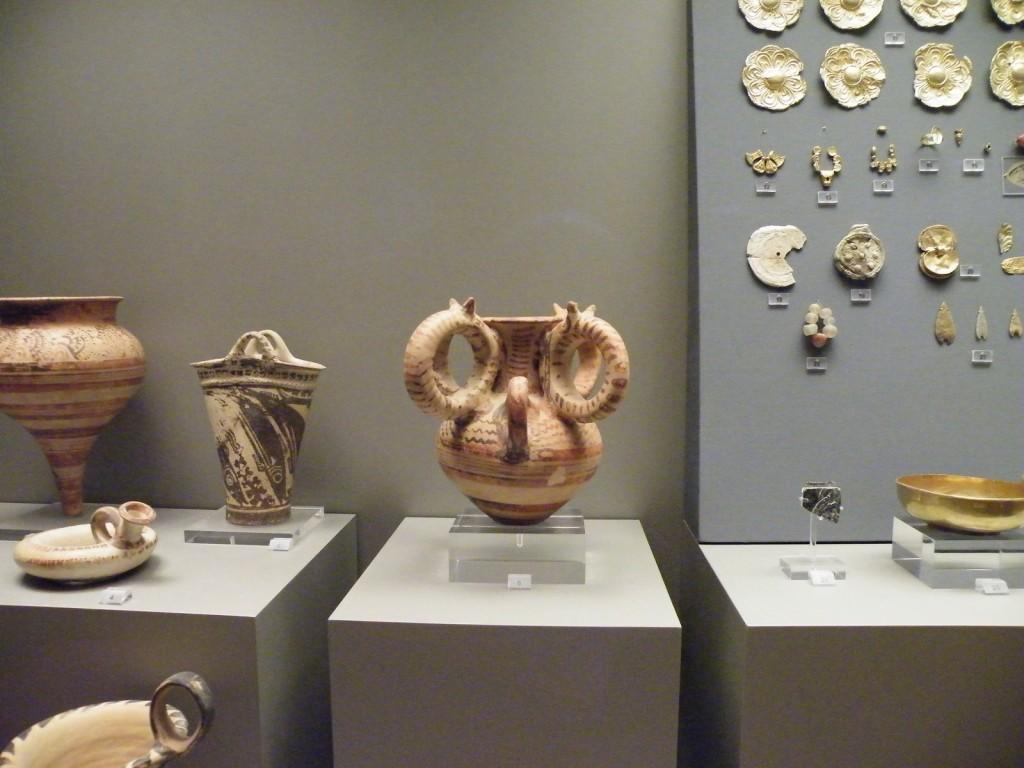 Amphore décorée de poulpe